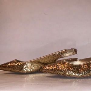 Gold Slingback Heels (NWOT)